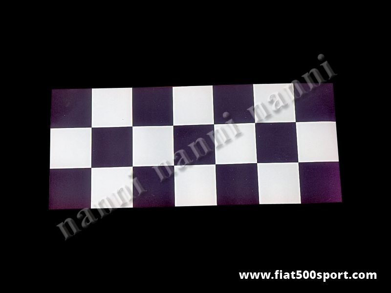 Art. 0670 - Sticker chequered black and white 30×70 cm. - Chequered black and white sticker 30×70 cm.