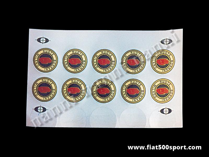 Art. 0675 - Adesivi Borrani per ruote (5 pezzi) - Adesivi rotondi Borrani per ruote (5 pezzi)