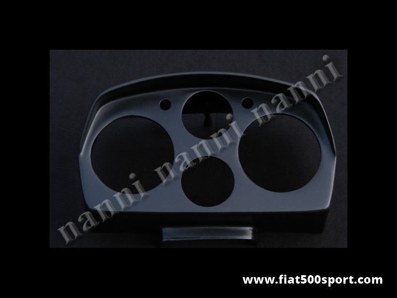 Art. 0706 - Portastrumenti Fiat 500 L Abarth  (contagiri e contachilometri Ø 80 mm) - Portastrumenti in vetroresina per Abarth 500 L (contagiri e contachilometri Ø 80 mm) verniciato con vernice satinata e pronto per il montaggio. Nostra produzione.