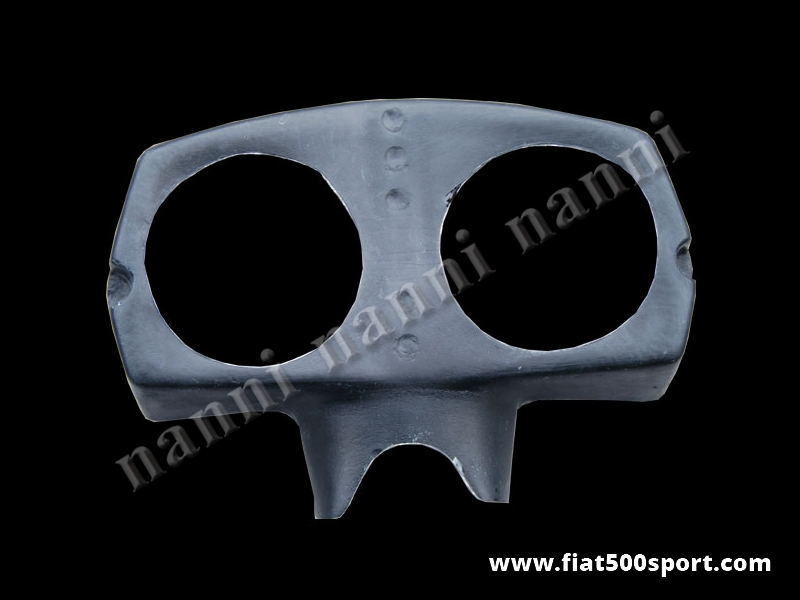 Art. 0710 - Fiat 500 L Giannini fiberglass instrument binnacle (2 instruments Ø 80 mm). - Fiat 500 L Giannini fiberglass instrument binnacle (2 instruments Ø 80 mm). Our product.