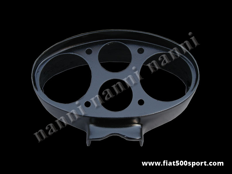 Art. 0711 - Fiat  500 D F R Giannini oval  fiberglass instrument binnacle (instrumentsØ 80 mm). - Fiat 500 D F R Giannini fiberglass instrument binnacle (instruments Ø 80 mm). Our product.
