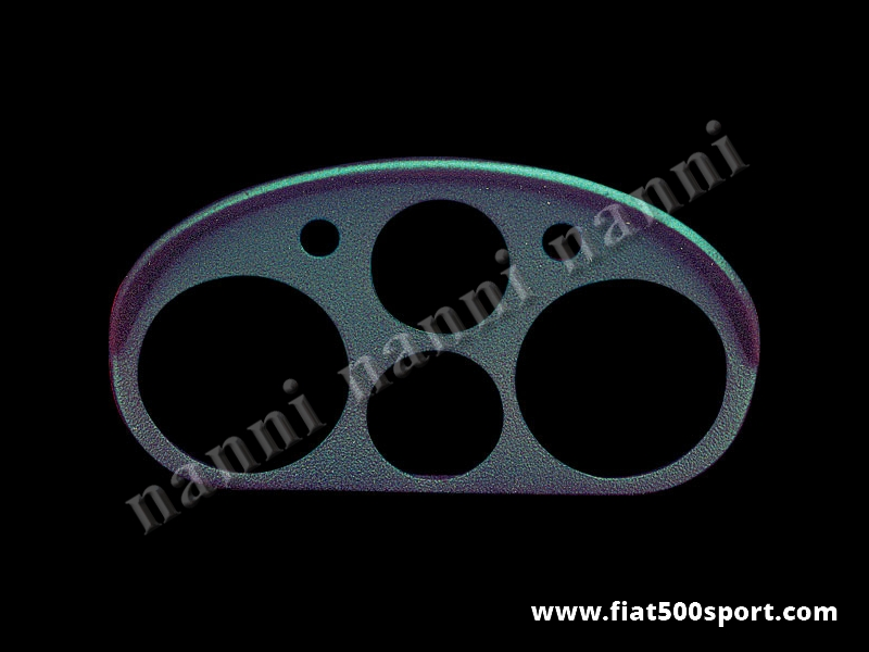 Art. 0712 - Fiat 500 L Giannini semi-circular fiberglass instrument binnacle (instruments Ø 80 mm). - Fiat 500 L Giannini semi-circular fiberglass instrument binnacle (instruments Ø 80 mm). Our product.