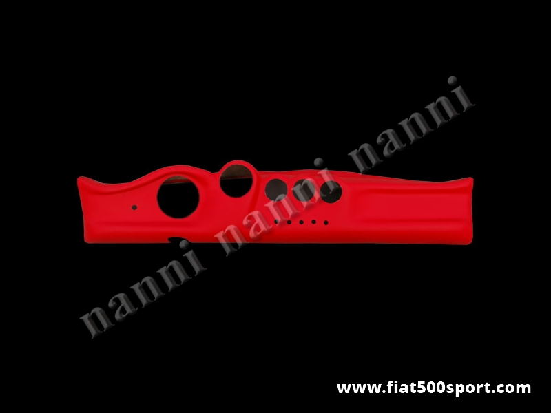 Art. 0717 - Fiat 500 red leather covered fiberglass dashboard. - Fiat 500 red leather covered fiberglass dashboard