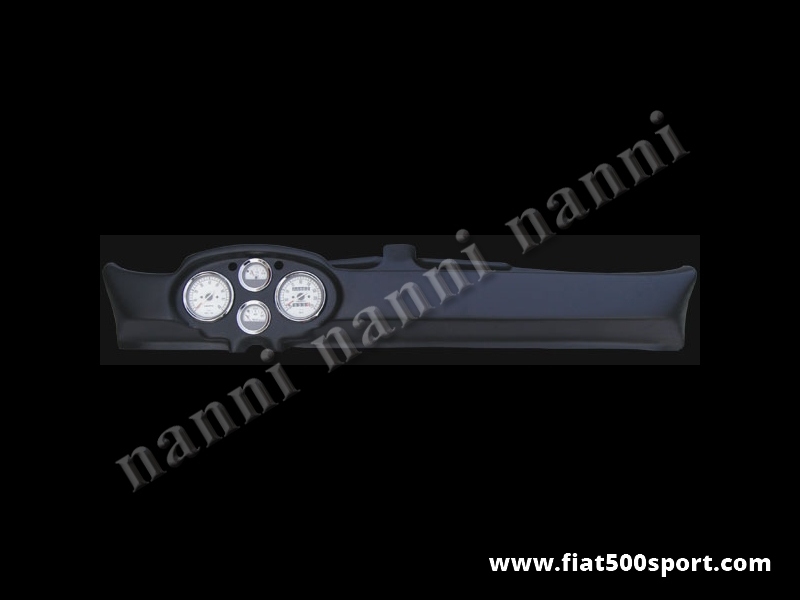 Art. 0730bia - Fiat 500 D F L R Francis Lombardi dashboard with white instruments. - Fiat 500 D F L R Francis Lombardi dashboard with white instruments diam. 80 mm. 2 gauge and red and green lights. All the details are new, made in Italy.