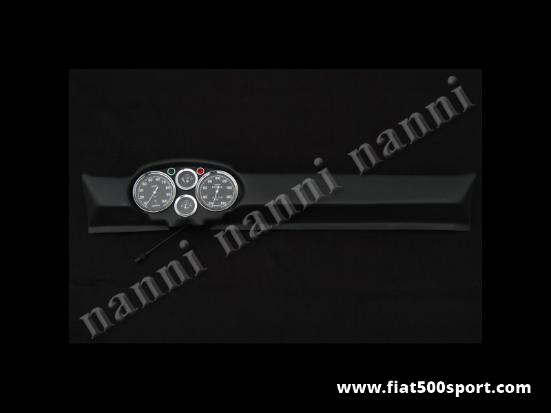 Art. 0731nero - Fiat 500 D F L R Francis Lombardi My Car dashboard with black instruments . - Fiat 500 D F L R Francis Lombardi My Car dashboard with black instruments diam. 100 mm. 2 gauge and green and red ligths. All the details are new, made in Italy.