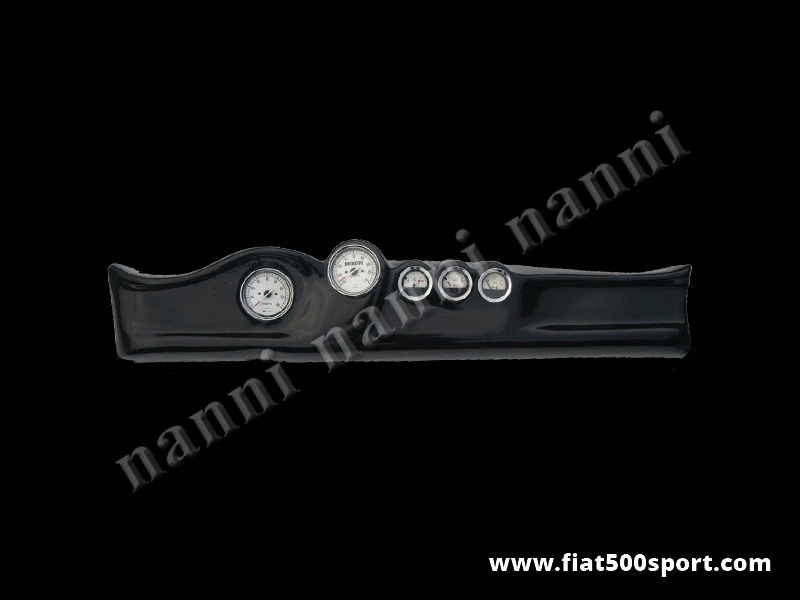 Art. 0733 - Fiat 500 dashboard with white instruments diam . 80 mm. and 3 gauge. - Fiat 500 dashboard with white instruments diam. 80 mm. and 3 gauge. (oil pressure, oil temperature and fuel level). All the details are new, made in Italy.
