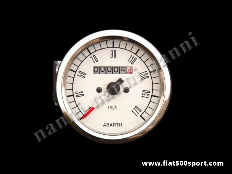 Art. 0740 - Abarth speedometer assy white complete Ø 80 mm. - Abarth speedometer assy white complete Ø 80 mm.