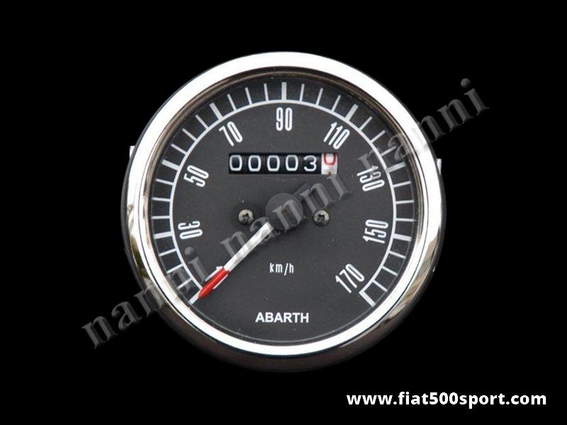 Art. 0742 - Abarth speedometer assy black  complete Ø 80 mm. - Abarth speedometer assy black complete Ø 80 mm.