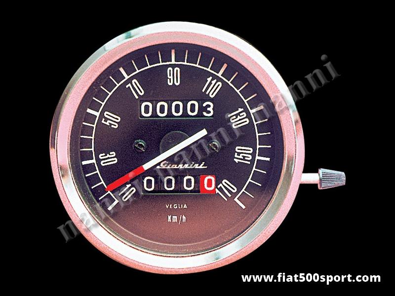 Art. 0760 - Giannini speedometer assy complete black Ø 80 mm. - Giannini speedometer assy complete black Ø 80 mm.