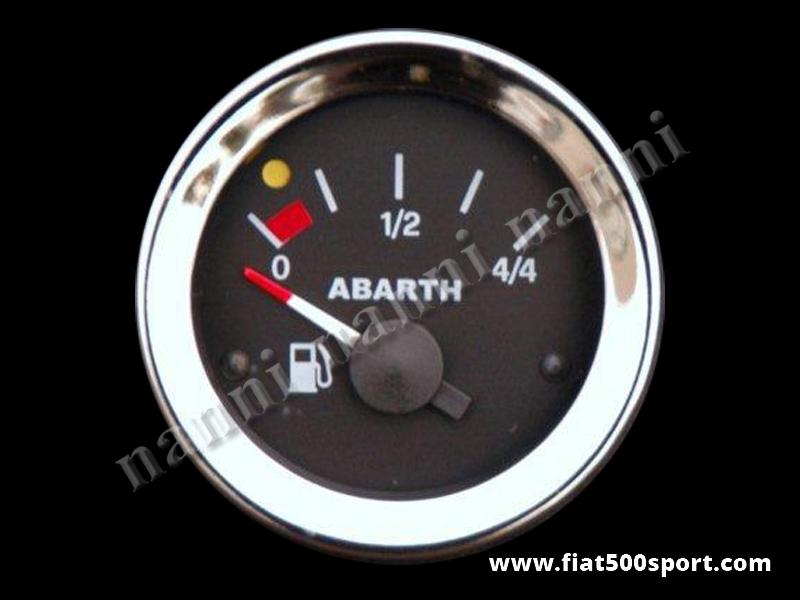 Art. 0770 - Manometro Abarth livello benzina nero, nuovo. - Manometro Abarth livello benzina nero diametro 52 mm. nuovo.