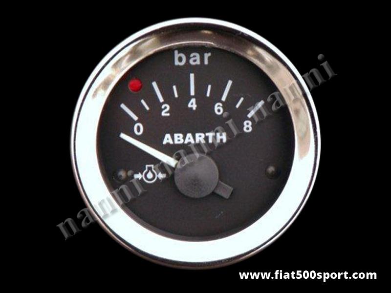Art. 0771 - Abarth oil pressure gauge, black. - Abarth diam. 52 mm. oil pressure gauge, black