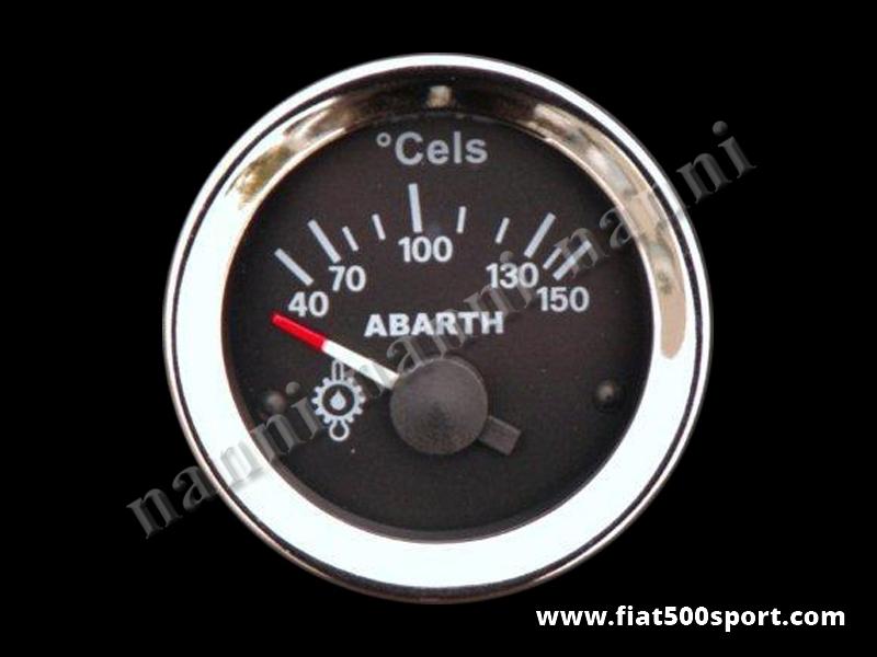 Art. 0772 - Abarth oil temperature gauge, black. - Abarth diam. 52 mm. oil temperature gauge, black.