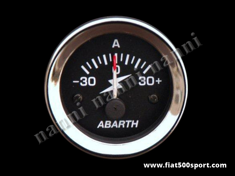 Art. 0773 - Abarth ammeter diam. 52 mm. black. - Abarth diam. 52 mm. ammeter, black.