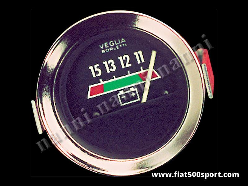 Art. 0774 - Voltmetro nero, nuovo. - Voltmetro con fondo nero, nuovo, diametro 52 mm.
