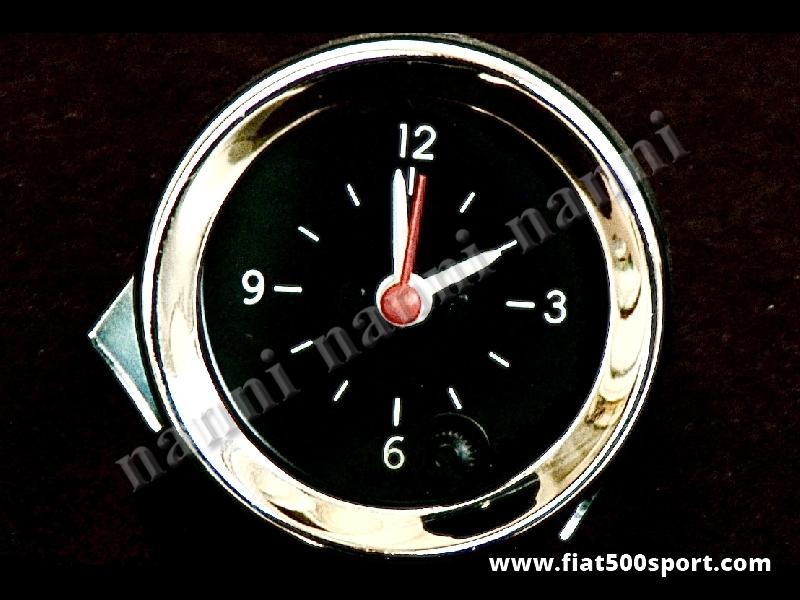 Art. 0775 - Orologio con fondo nero, nuovo. - Orologio con fondo nero, nuovo, diametro 52 mm.