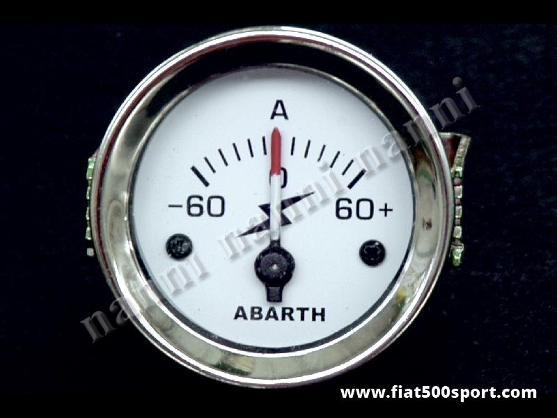 Art. 0779 - Amperometro Abarth bianco, nuovo. - Amperometro Abarth bianco, nuovo, diametro 52 mm.