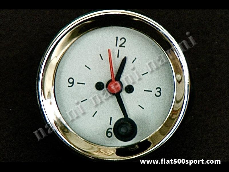 Art. 0781 - Orologio con fondo bianco, nuovo. - Orologio con fondo bianco, nuovo, diametro 52 mm.