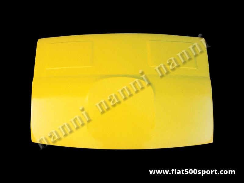 Art. 0830 - Bonnet rear Fiat 500 fiberglass. - Rear bonnet Fiat 500 fiberglass.