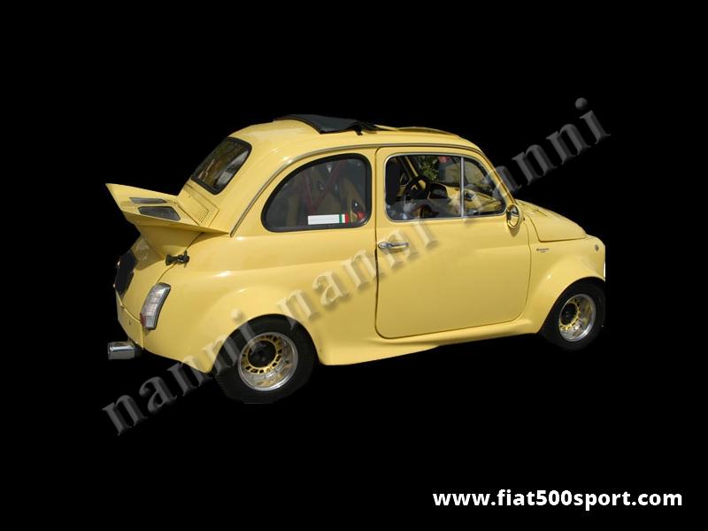 Art. 0832 - NANNI fiberglass rear bonnet with Porsche style spoiler for Fiat 500. - NANNI fiberglass rear bonnet with Porsche style spoiler for Fiat 500.