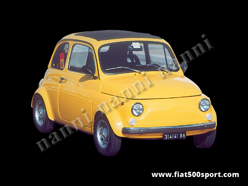Art. 0840 - Parafanghi  Fiat 500 stradali NANNI (allargano 4 cm per parte la vettura). - Serie di parafanghini stradali per Fiat 500 di nostra produzione( 4 pezzi ) allargano 4 cm per parte la vettura). Possono essere fissati con rivetti o con mastice e sono verniciabili in qualsiasi colore.
