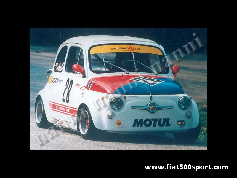 "Art. 0841 - Wheel arches Fiat 500 NANNI fiberglass set ""ex-group n. 2"", extending car 6,5 cm for each side . - Wheel arches Fiat 500 NANNI fiberglass set ex-group n. 2"", extending car 6,5 cm for each side."