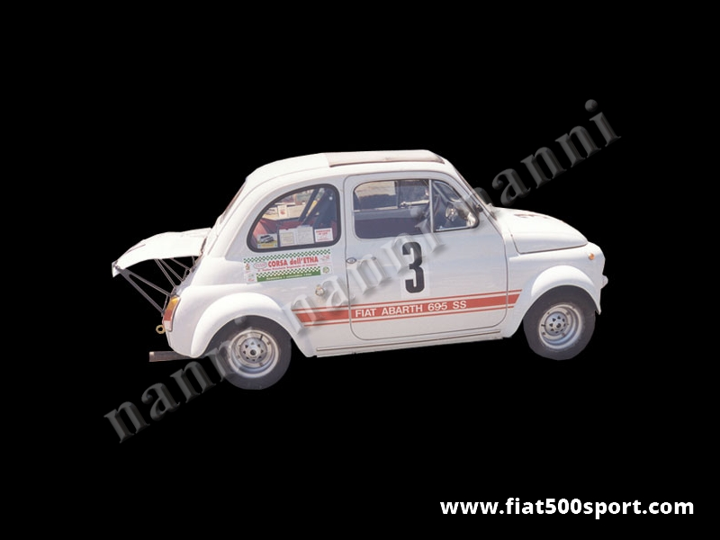 Art. 0843 - Wheel arches Abarth 695 fiberglass set  competition style, extending car 7,5 cm. for each side. - Wheel arches Abarth 695 fiberglass set competition style, extending car 7,5 cm for each side.