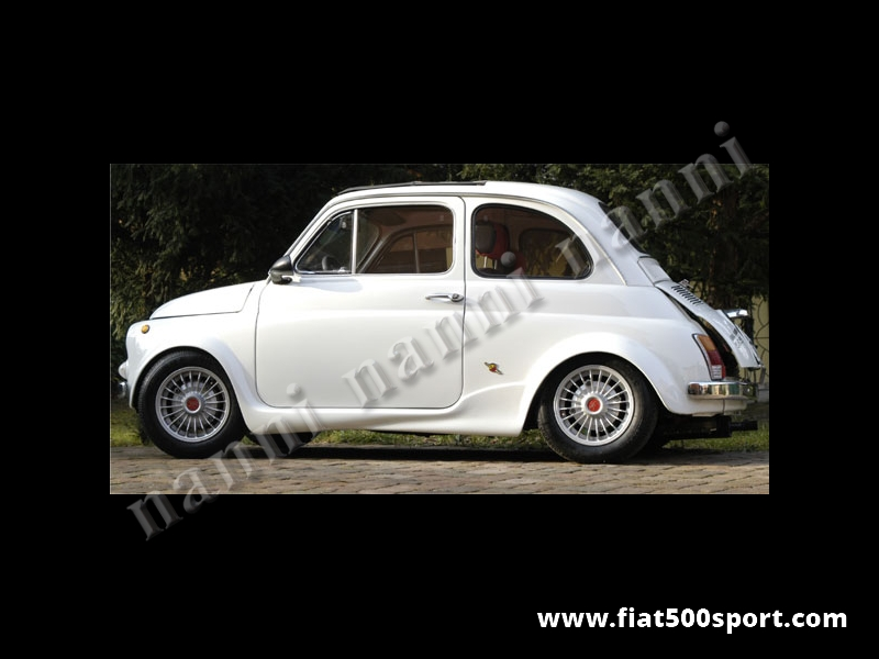 Art. 0860L - NANNI set of fiberglass miniskirts for big wheel arches of Fiat 500. - NANNI set of fiberglass miniskirts for big wheel arches of Fiat 500.