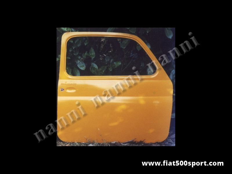 Art. 0863 - Door left Fiat 500 F L R fiberglass  for racing use. - Left door Fiat 500 F L R fiberglass for racing use.