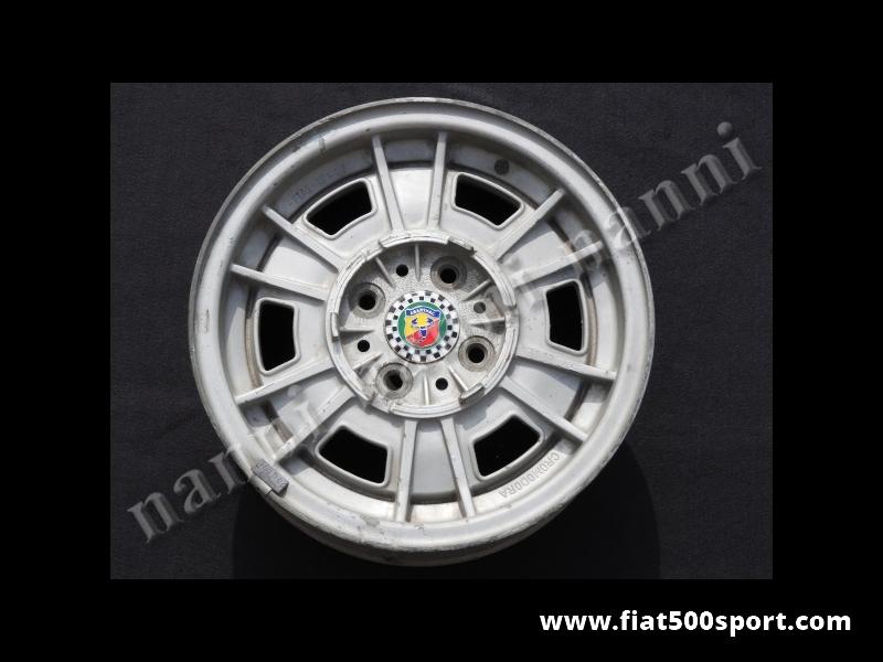 """Art. 0901 - Fiat 131 Abarth original Cromodora magnesium wheels ( 4 wheels) size 13"""" x 5"""". - Fiat 131 Abarth original Cromodora magnesium wheels (4 wheels) size 13"""" x 5""""."""