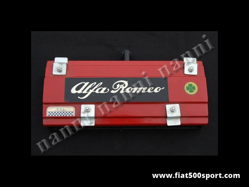 Art. 0910 - Cassa filtro aria per Alfa Giulia 1600 , Alfa 1750 e 2000 - Cassa filtro aria con paglia metallica per Alfa Romeo Giulia, Alfa 1750, Alfa 2000.